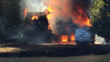 Fire engulfs a Seabeck home Wednesday afternoon