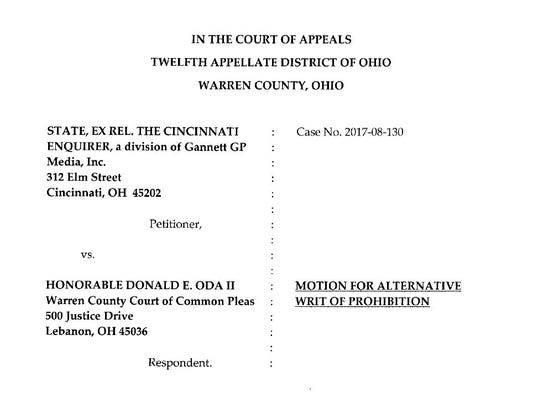 This is a screenshot of The Enquirer's appeal against
