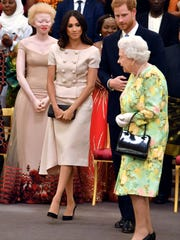 Duchess Meghan of Sussex, Prince Harry and Queen Elizabeth