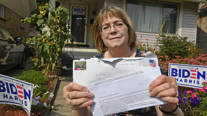 Anne Carney received a racist, homophobic letter in the mail, attacking her for being a supporter of Democratic presidential candidate Joe Biden. Carney, 63, of Erie, is a registered Democrat and for 25 years has been putting political signs in her yard.