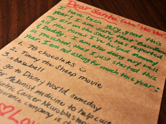 A letter to Santa helped inspire one of the Key to Giving passion projects.