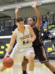 Alamogordo's Josh Martin powers her way to the basket.