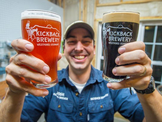 Josh Smith makes his Kickback Brewery beer in the basement