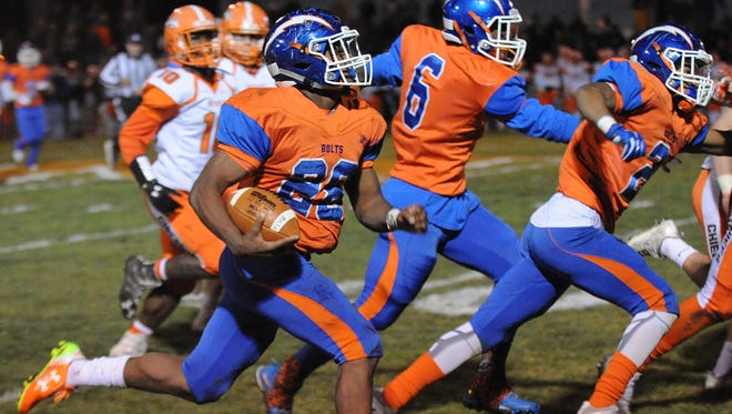 Millville's Clayton Scott runs the ball against Cherokee during Friday's South Jersey Group 5 opening-round game.