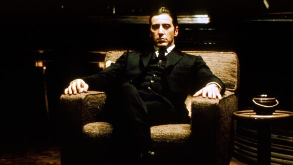 "Al Pacino stars as Michael Corleone, the youngest son in the Corleone crime family, in ""The Godfather."""