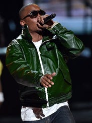Rapper T.I. performs during the BET Awards in Los Angeles