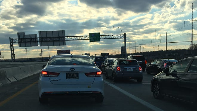 A crash is causing traffic to be backed up on I-95 southbound Saturday afternoon.
