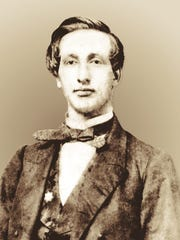 Benjamin S. Coffin, one of the students who left to become a Civil War soldier, is seen in this circa 1860 photo.