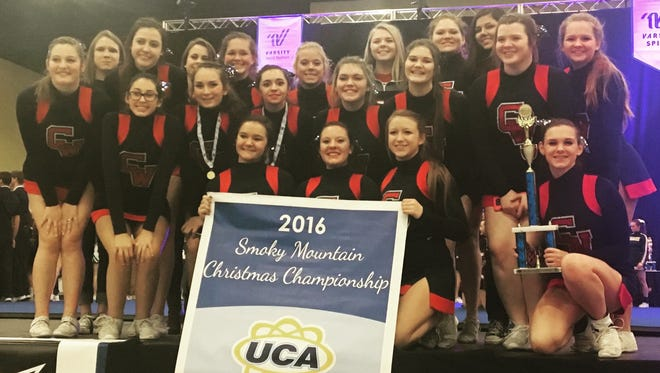 The Creek Wood High cheer team recently won their division at the Smoky Mountain Christmas Championship in Sevierville.