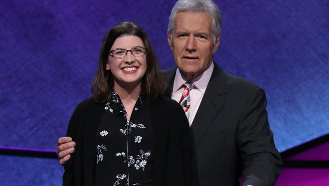 Beth Binder, a sixth-grade teacher at Ridgeview Classical Schools, poses with Jeopardy host Alex Trebek. Binder is competing in the Jeopardy Teacher's Tournament May 7-18, 2018.