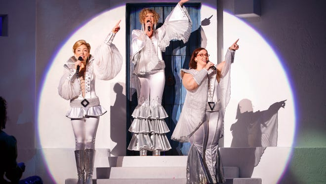 """Cast members from the 2015 North American Tour of """"Mamma Mia!"""" The show's """"farewell tour"""" will make a five-show, three-day stop at Cincinnati's Aronoff Center March 10-12 as one of Broadway in Cincinnati's """"special engagement"""" offerings."""