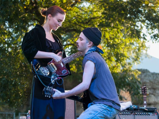 Rooney Mara and Cole Alexander from Black Lips surprised