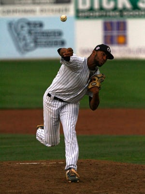 East Cobb Yankees' Garrett Gooden pitches against D-BAT Elite 17U on Friday in Game 22 of the Connie Mack World Series at Ricketts Park in Farmington.