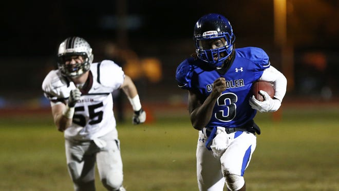 Chandler's Bryce Perkins in the No. 1 ranked quarterback in the state by azcentral sports.