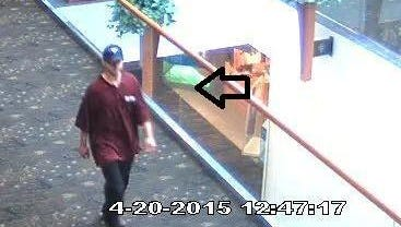 The West Des Moines Police Department is asking for the public's help identifying the man in this photo. Police say he is a suspect in a purse snatching incident at Valley West Mall on April 20.