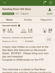 Geocache in Red Bank
