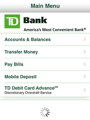 Online and mobile banking have become a ubiquitous practice - but they carry security risks. The TD Bank App is pictured.