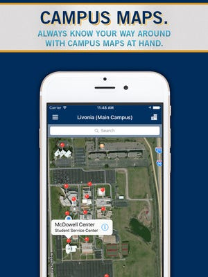 Campus maps are just one feature of the newly launched Schoolcraft College app.