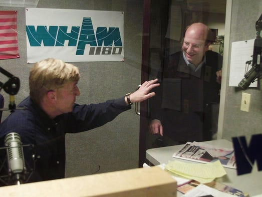 Bill Nojay (R) pops in on friend and local talk show
