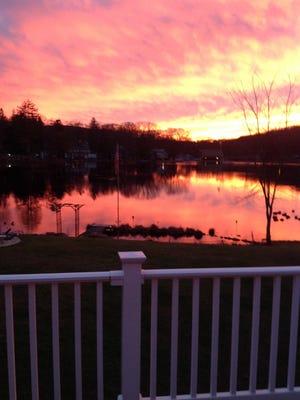 Beautiful sunset on Lake Telemark (Rockaway Twp.) 11/22/15.
