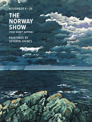 """Gallery X announced The Norway Show (That Didn't Happen), paintings by Severin """"Sig"""" Haines, will be on display in the main gallery from Nov. 4 - 29."""