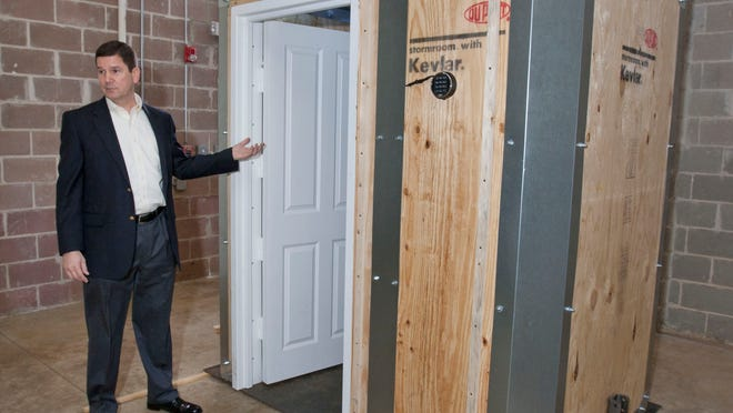 Vincent Cerio, president of StormRooms of New Jersey, is a dealer for Dupont's Kevlar storm rooms.