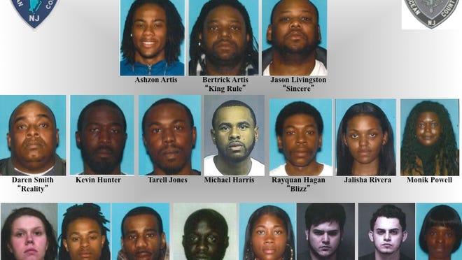 Mugshots of those arrested in Operation Broken Rule.
