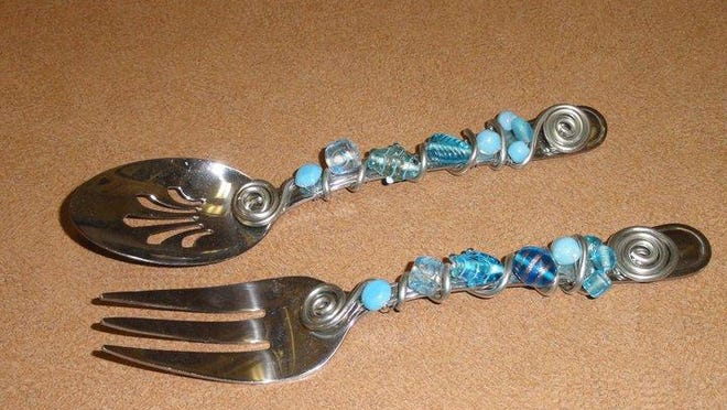 Decorate serving utensils with beads for tabletop flair.