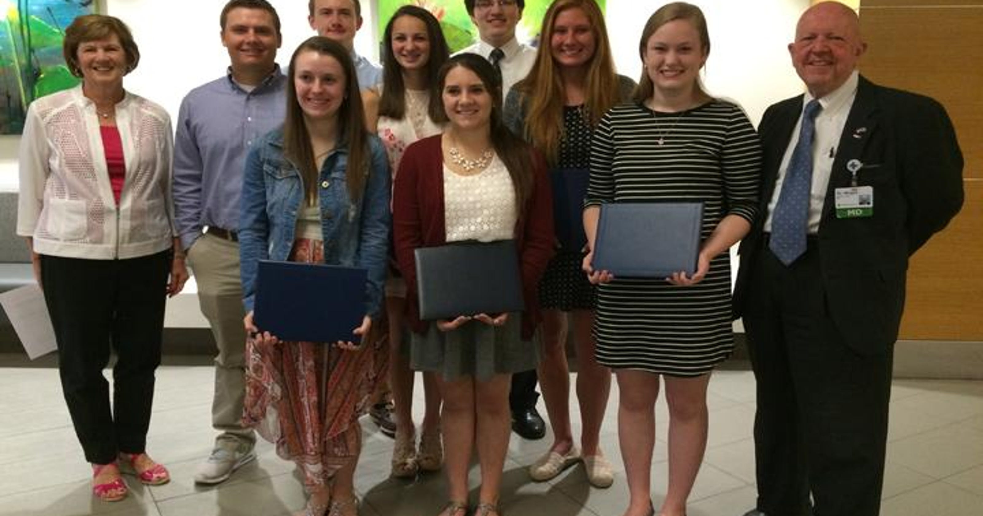 Eight local students receive scholarships from Mercy West