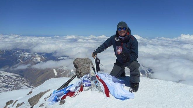 Tallahassee's Jeremy Rogers summits Mount Elbrus in Russia Saturday.
