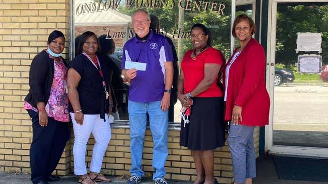 Jacksonville - NC Alumnae Chapter of Delta Sigma Theta Sorority recently donated $1,000 to Executive Director Gary Danford for the Onslow Women's Center.