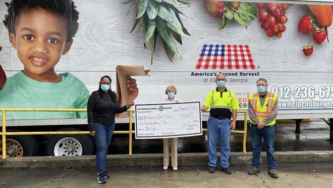 America's Second Harvest of Coastal Georgia received a $5,000 grant from International Paper's Savannah Mill and the International Paper Foundation.