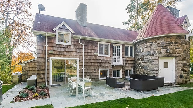 """The rear of a former cider mill that was converted to a house which will be featured on """"Property Brothers"""" on HGTV."""