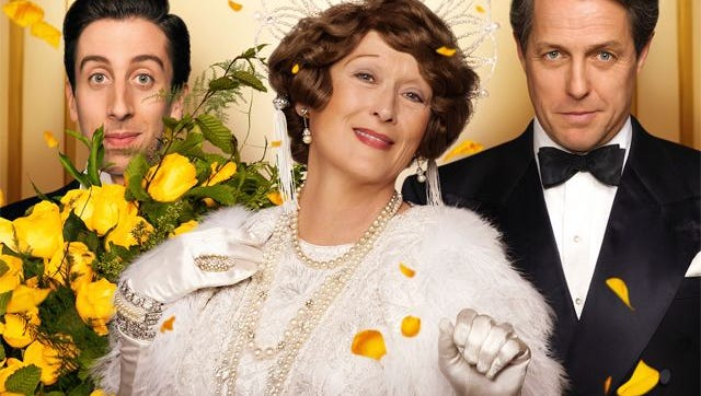 """Florence Foster Jenkins,"" starred Oscar nominee Meryl Streep, with Simon Helberg (left) and Hugh Grant. Come see the play Sept. 27-30 at The Bickford Theatre in Morristown."