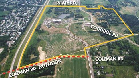 Funding has been approved by the state to extend Coleman Road from West Road in East Lansing to Wood Road in DeWitt Township. The new section of road will pass beneath U.S. 127.