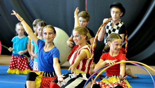 Fun at Westchester Circus Arts Summer Camp.