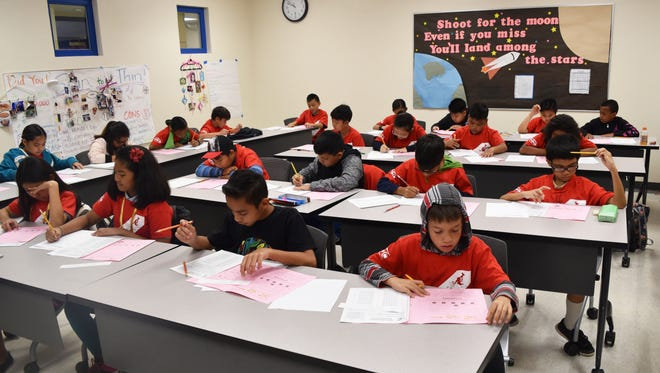 Fifth-grade students from various schools participate in the annual Math Kangaroo competition March 17, 2017, at Guam Community College in Mangilao.