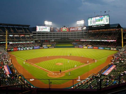 USP MLB: NEW YORK YANKEES AT TEXAS RANGERS S BBA USA TX