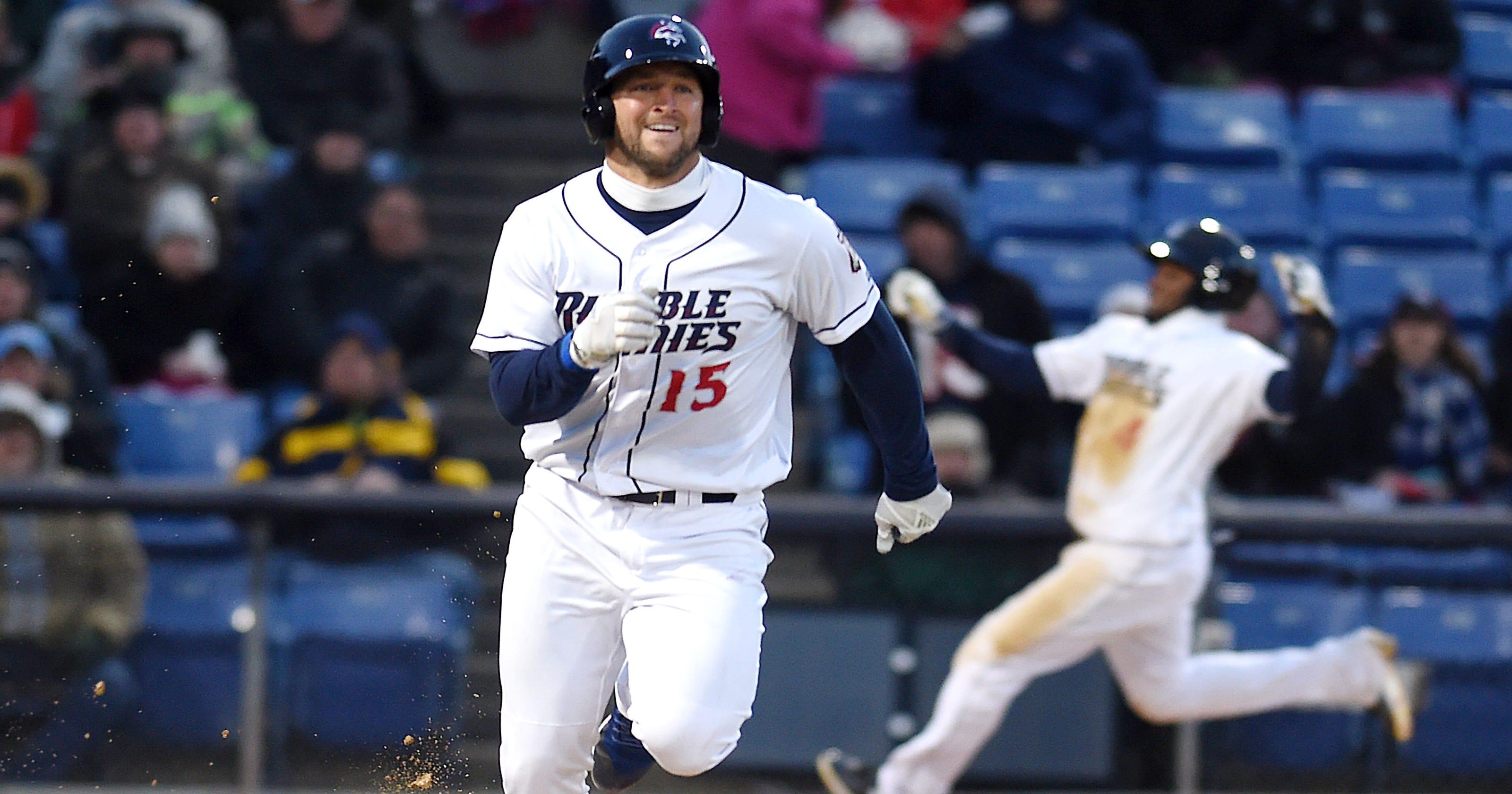new styles 33d80 eeaaf Tim Tebow's home run the highlight in Binghamton baseball opener
