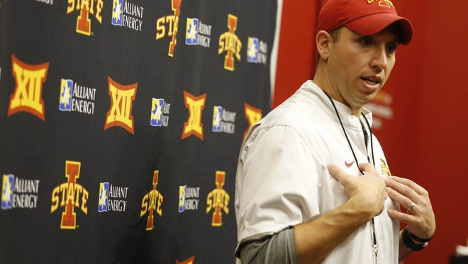 Iowa State football coach Matt Campbell will lead his first spring game with the Cyclones.