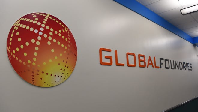Inside building 323 at GlobalFoundries' East Fishkill plant on Thursday.