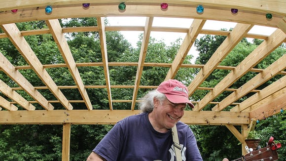 Delaware musician Butch Zito, who won a Delaware Division of the Arts grant to build a music stage in his backyard to host house concerts.