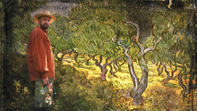 "Promotional poster for James Briggs of the Starry Night Theatre Company in ""Vincent,"" a one-man play about Vincent van Gogh written by Leonard Nimoy."