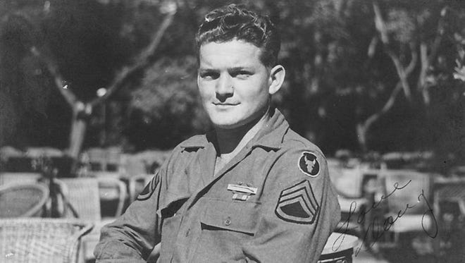 Doug Dickerson is pictures as a young combat soldier in 1944.