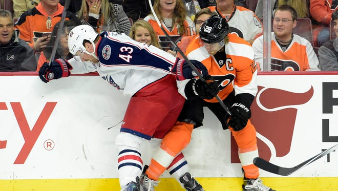 Scott Hartnell and his Blue Jackets are sitting pretty in the Eastern Conference playoff race.