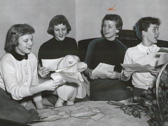 In this 1956 Register file photo, Carolyn Nicholson