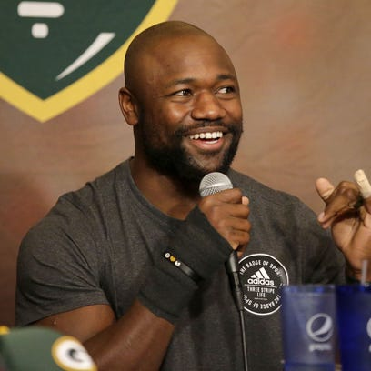 Green Bay Packers running back Ty Montgomery co-hosted