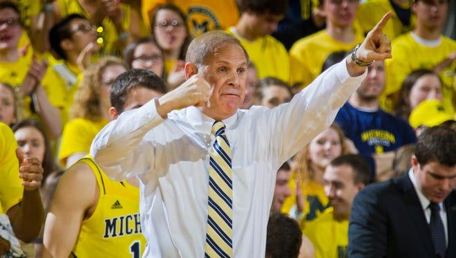 Michigan basketball coach John Beilein.