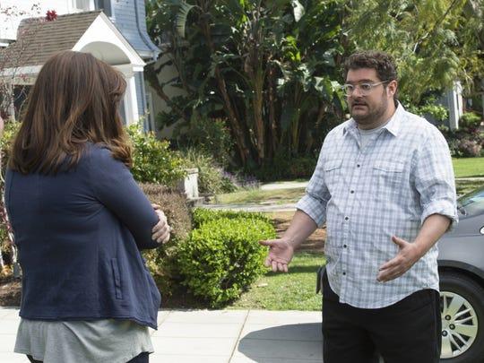 "Alex (Bobby Moynihan) confronts his wife (Allison Tolman) in ""Me, Myself & I."""