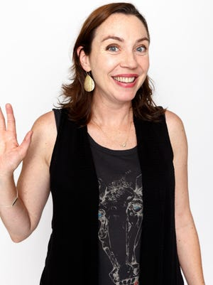 LOS ANGELES, CA - MAY 27:  Stephanie Courtney poses for a portrait at The Groundlings Alumni Return To The Stage To Celebrate 40th Anniversary With '2000's Decade Night' at The Groundlings Theatre on May 27, 2014 in Los Angeles, California.  (Photo by Rich Polk/Getty Images for The Groundlings)